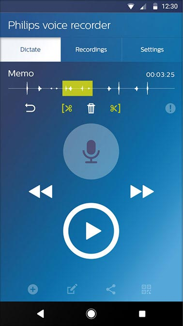 Voice recorder app LFH7400 | Philips