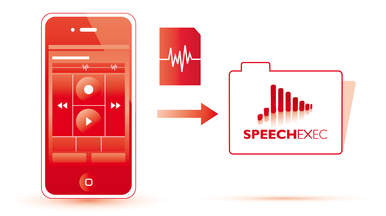 Seamless integration into SpeechExec software for productivity on the go