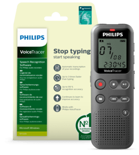 VoiceTracer Audio Recorder with speech recognition software