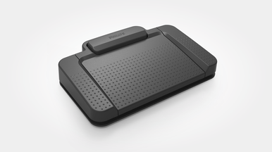 Ergonomic foot pedal for convenient playback control