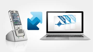 Automatischer Download von Diktatdateien für einen schnellen Diktat-Workflow