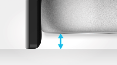 Raised edge for protection against screen damages