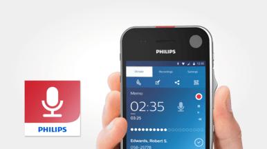 Philips Diktier-Recorder-App mit professionellen Diktierfunktionen