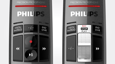 Wear-free slide switch or push buttons for comfortable operation