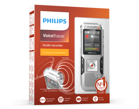 Philips DVT4010 Digital Voice Tracer 8GB Memory ***FREE UK DELIVERY***