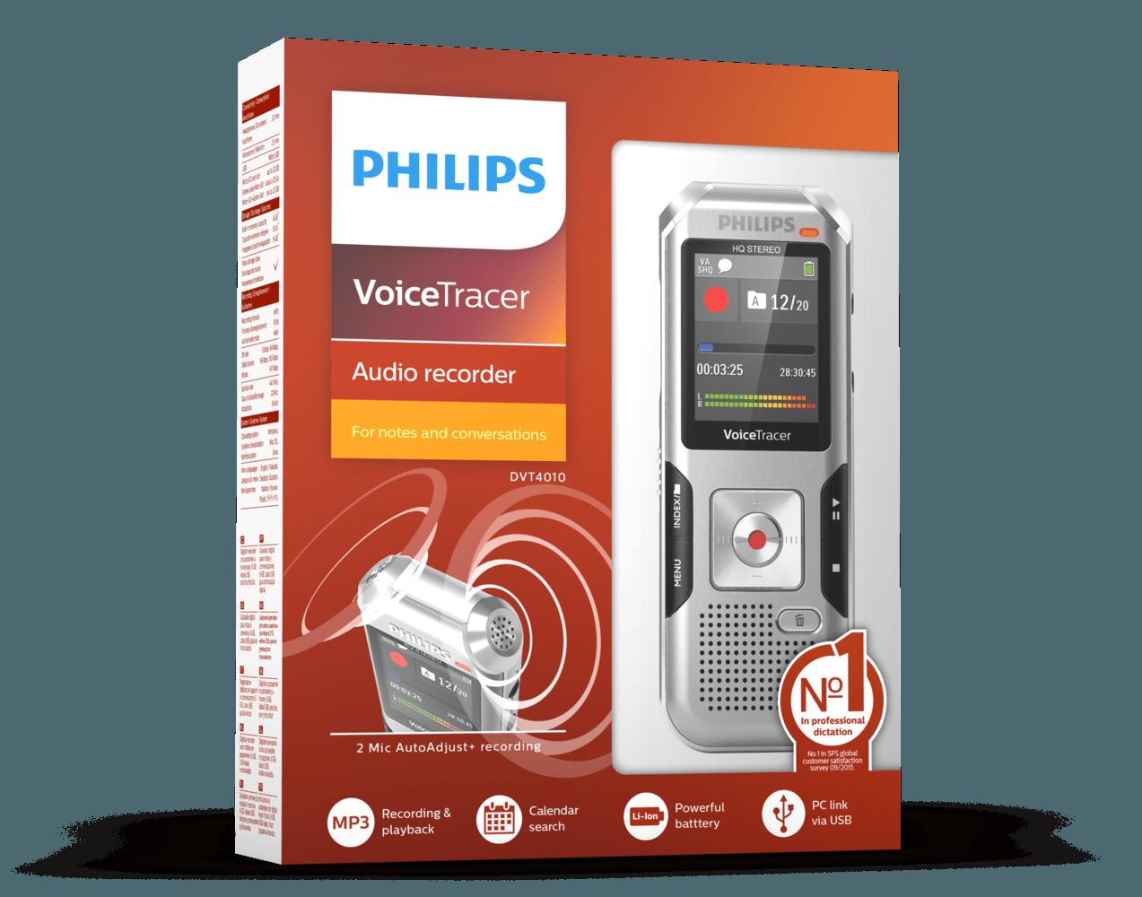 VoiceTracer audio recorder DVT4000 | Philips