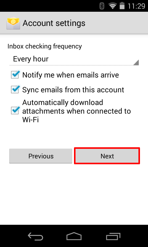 Gmail settings - activate or deactivate available options